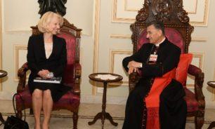 الراعي عرض الاوضاع مع سفيرة فلندا image