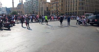 اعتصام للمودعين في ساحة الشهداء للمطالبة باسترداد أموالهم image