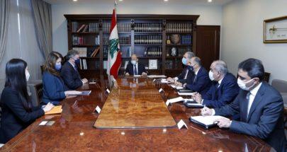"""مفاوضات الترسيم على طاولة بعبدا... """"لبنان متمسك بسيادته على أرضه ومياهه"""" image"""