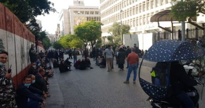 بالصورة: زحمة سير خانقة من برج المر ومن الخط الساحلي باتجاه شارع الحمرا بسبب اعتصام أمام مصرف لبنان image