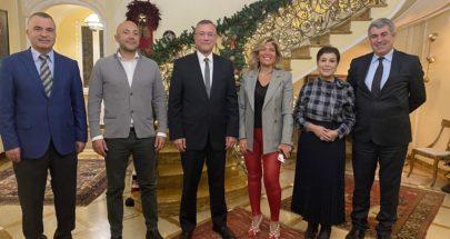 درويش بحث مع سفيرتي لبنان والعراق في ايطاليا سبل دعم الاقتصاد اللبناني image