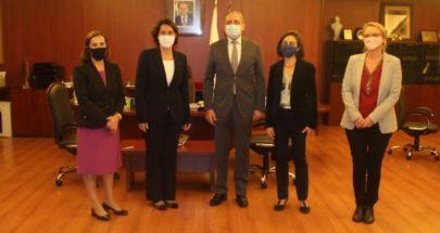 أيوب يلتقي السفيرة الفرنسية في بيروت image