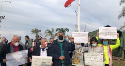 وقفة احتجاجية في صور تضامنا مع الحراك في طرابلس وسائر المناطق image