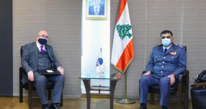 اللواء عثمان استقبل القائم بالأعمال لدى السفارة البريطانية في لبنان image