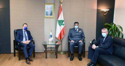 اللواء عثمان استقبل وفداً من سفارة الاتحاد الاوروبي في لبنان image