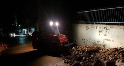 إنهيار جدار في سير الضنية بسبب السيول image