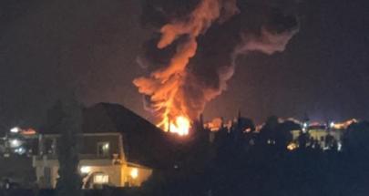 إنفجار خزان محروقات في منطقة القصر الحدودية image