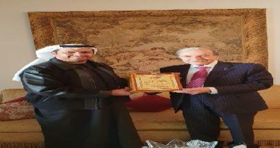 الخليل استقبل الشامسي في زيارة وداعية image