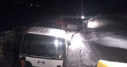 وزارة الأشغال أنهت جرف الثلوج ووسعت طريق القموعة مرجحين الهرمل image