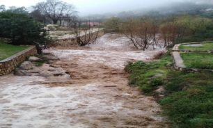 انحسار العاصفة في النبطية والأمطار أدت إلى ارتفاع منسوب المياه image