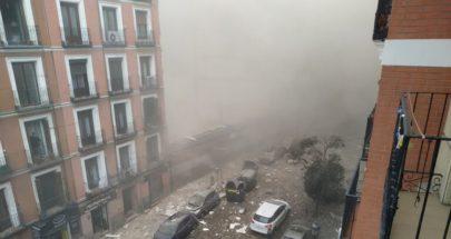 بالفيديو... قتلى وجرحى في انفجار عنيف يهز العاصمة الإسبانية مدريد image
