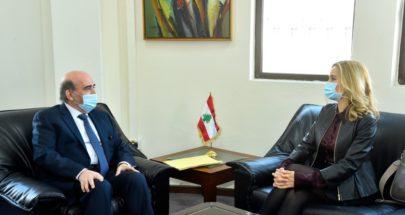 """""""لا اتهاماً ولا دفاعاً"""".. هذا ما دار بين وزير الخارجية والسفيرة السويسرية image"""