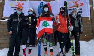 لبنان بطل سيدات الدول الصغرى في التزلج الألبي image