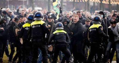 "اعتقال 100 متظاهر خلال احتجاج في أمستردام ضد ""قيود كورونا"" image"