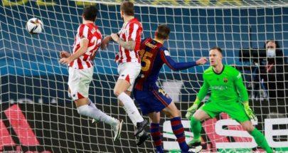 أتلتيكو يسقط برشلونة ويتوج بكأس السوبر الإسبانية image