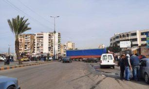 قطع طريق المنكوبين في طرابلس image