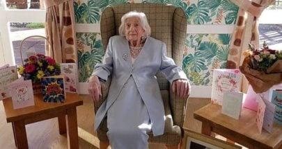 """مسنّة بعمر 106 سنوات تهزم """"كورونا"""" مرتين... وهذا سر حياتها الطويلة؟ image"""