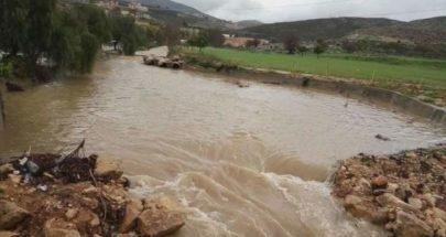 ارتفاع منسوب نهر الزهراني عند جسر حبوش image