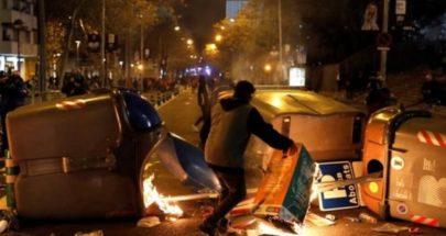 اشتباكات في برشلونة خلال احتجاجات على اعتقال مغني راب image