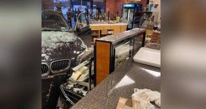 """""""خطأ بسيط... امرأة اقتحمت مخبزا بسيارتها! image"""