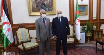 """زعيم البوليساريو يلتقي الرئيس الجزائري وينتقد """"العرقلة المغربية"""" image"""