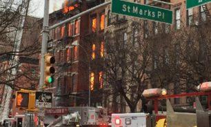 بالفيديو: أم ترمي بأطفالها من الطابق الثالث لإنقاذهم من ألسنة النيران image
