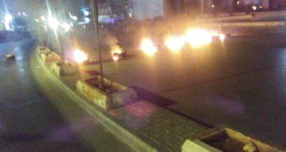 قطع الطريق قرب كنيسة مار مخايل الشياح image