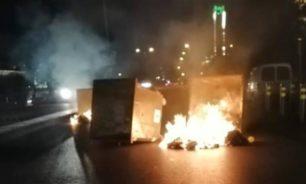 احتجاجًا على قطع الكهرباء المستمر... متظاهرون يقطعون طريق قصقص image