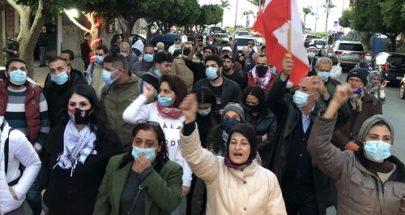 تظاهرة لناشطي حراك صور احتجاجا على تردي الاوضاع المعيشية image