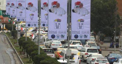 """""""حاجاً تائباً"""".. البابا وصل الى العراق في زيارة تاريخية! image"""