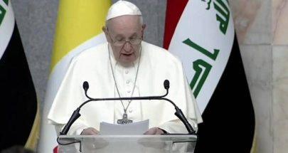 البابا فرنسيس يحيي أوّل قدّاس له في العراق image