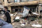 بالصور... إنهيار ثلاث شرفات من مبنى في منطقة الحوش! image