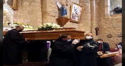 القليعة ودعت كاهن رعيتها المونسنيور منصور الحكيم image