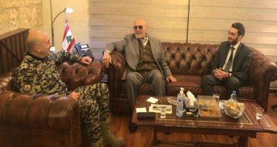 المدير العام لامن الدولة استقبل رئيس جامعة عائلة صليبا image