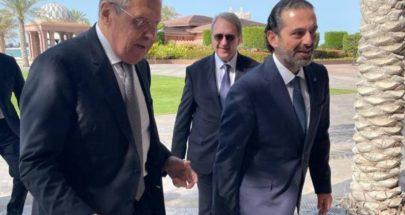 بالصور: الحريري يلتقي لافروف في أبوظبي image