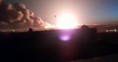 انفجار عنيف شرقي حلب جراء هجوم صاروخي.. وفيديو يرصد النيران image