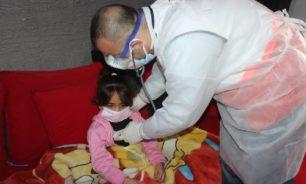 وحدة مكافحة كورونا في الهمشري توجهت الى البص لتقديم المساعدة الطبية image