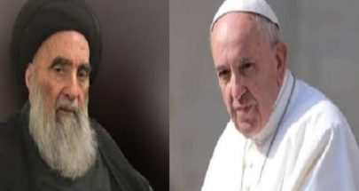 إنتهاء اللقاء التاريخي بين البابا فرنسيس والمرجع السيستاني image
