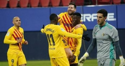 """برشلونة يهزم أوساسونا.. ويُشعل المنافسة على لقب """"الليغا"""" image"""