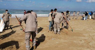 اتحاد بلديات ساحل الزهراني اطلق فعالية تنظيف الشاطىء من التسرب النفطي image