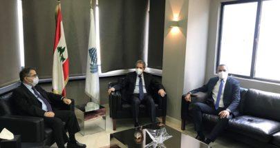 وزني استقبل موسى ورئيس الهيئة الوطنية لسلامة الغذاء image