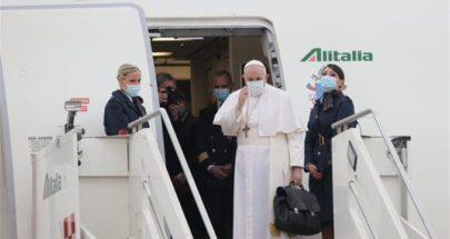 البابا فرنسيس غادر روما متوجها إلى العراق في زيارة غير مسبوقة image