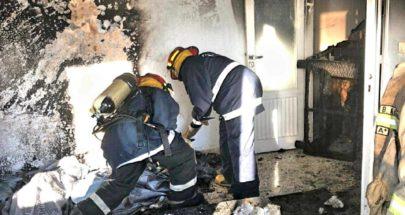 إخماد حريق داخل شقة في ذوق مكايل image