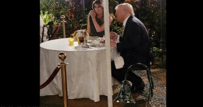 """بالصور.. ميلانيا وترامب و""""العشاء الرومانسي"""" image"""