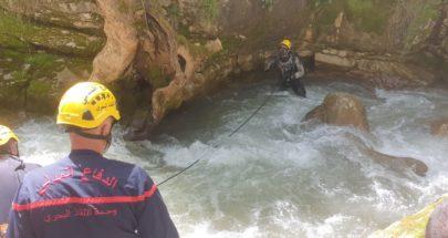 بالصور: وحدة الإنقاذ البحري تبحث عن شاب فُقد في نهر الجوز image