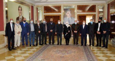 الحريري استقبلت وفدا مشتركا من اتحادات عمال تركيا وفلسطين ولبنان image