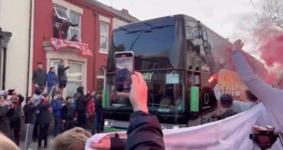 فتح تحقيق بعد تهشيم زجاج حافلة ريال مدريد في ليفربول image