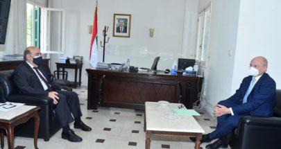 وهبه بحث مع سفير المانيا في الاوضاع اللبنانية image
