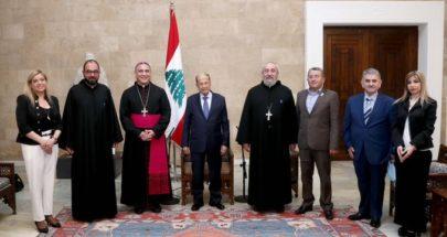 عون استقبل وفداً من اللجنة الأسقفية للحوار المسيحي - الإسلامي image