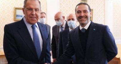 """لافروف يؤكد للحريري دعم روسيا لحكومة برئاسته """"بأسرع وقت"""" image"""